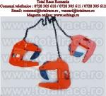 Dispozitive din lant cu clesti pentru ridicarea verticala a tuburilor de beton