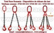 Dispozitive de ridicare din lant cu un brat si carlig rotativ cu siguranta Dispozitiv de lant cu 1 brat si cheie de tachelaj omega productie Crosby