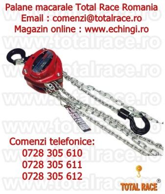 Palane manuale cu lant pentru instalare echipamente Total Race