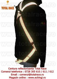 Centura reflectorizanta cu banda portocaliu fluorescent cu vizibilitate mare Total Race
