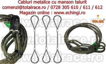 Cabluri de legare cu capete manșonate, cu inimă metalică