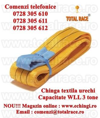chinga textila gase urechi ridicare 3 tone 90 mm promo